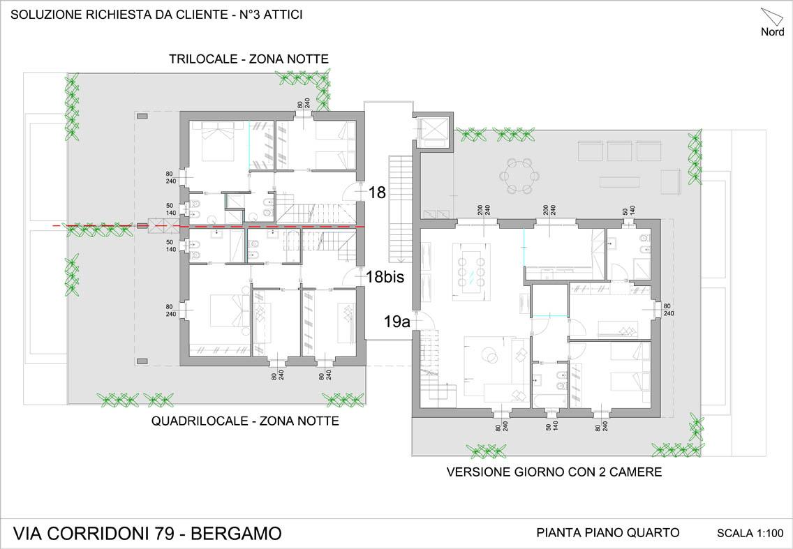Via corridoni 79 for Pianta del piano casa di 800 piedi quadrati